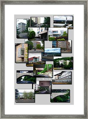 Collage Ithaca College Ithaca New York Vertical Framed Print by Thomas Woolworth