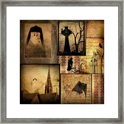 Collage Of Gothic Old  Framed Print by Gothicolors Donna Snyder