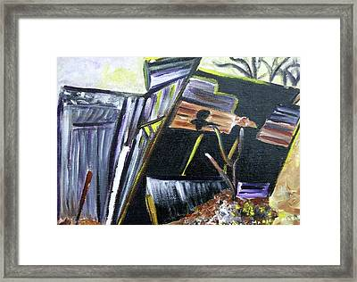Collapsing Barn Framed Print by Suzanne  Marie Leclair