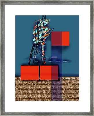 Collapsing Ego Framed Print by Dean Gleisberg