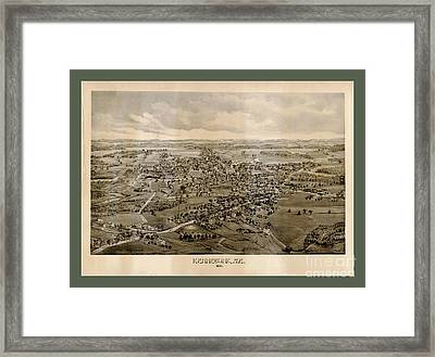 Collectable And Rare Map Of Kennebunkport Maine Framed Print by Pd
