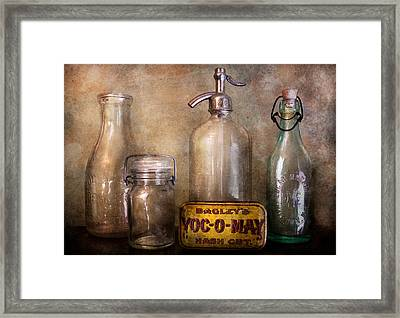 Collector - Bottle - Container Collection  Framed Print by Mike Savad