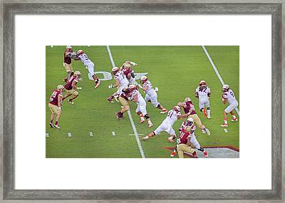 College Football Vt And Boston College Framed Print by Betsy Knapp