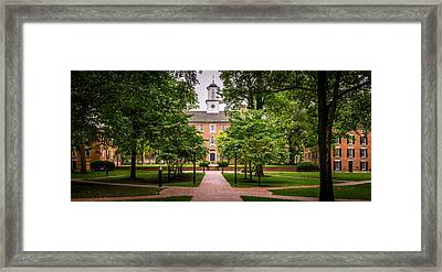 College Green At Ohio University Framed Print by Robert Powell