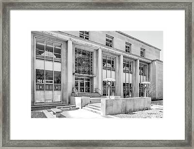 College Of Wooster Andrews Library Framed Print by University Icons