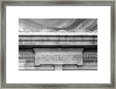 College Of Wooster Frick Hall Architecture Framed Print by University Icons