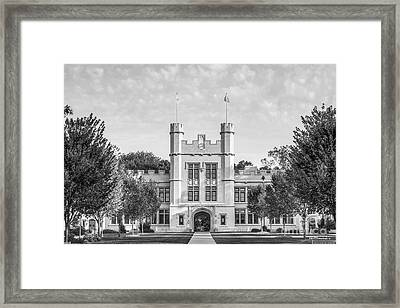 College Of Wooster Kauke Hall Framed Print by University Icons