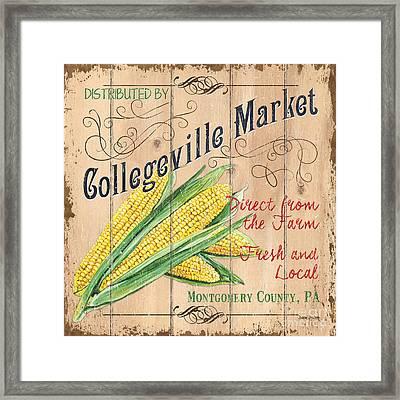 Collegeville Market Framed Print by Debbie DeWitt