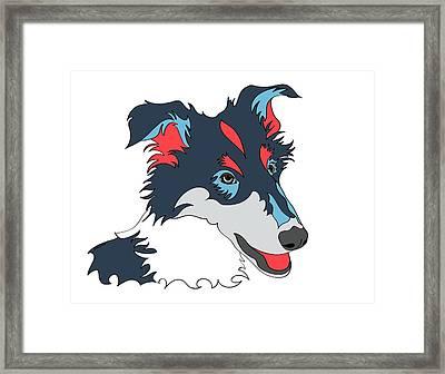 Collie Graphic Art - Dog Art - Wpap Framed Print by Shara Lee