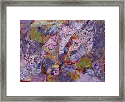 Collision Painting Framed Print by Don  Wright