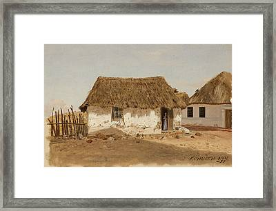 Colombia Barranquilla Two Houses  Framed Print by Frederic Edwin Church