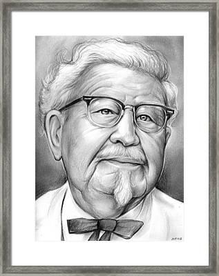Colonel Sanders Framed Print by Greg Joens