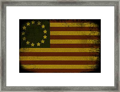 Colonial Flag Framed Print by Bill Cannon