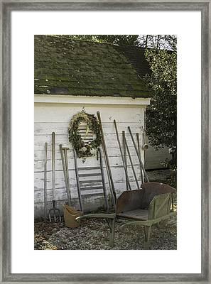 Colonial Nursery Potting Shed Framed Print by Teresa Mucha