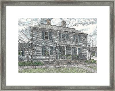 Colonial Williamsburg's Carter House Framed Print by Stephany Elsworth