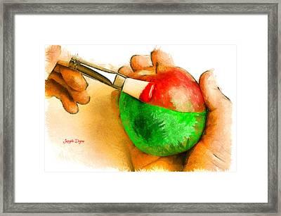 Color Apple Framed Print by Leonardo Digenio
