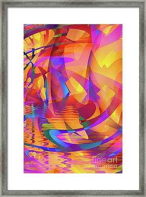Color Chaos Framed Print by John Edwards
