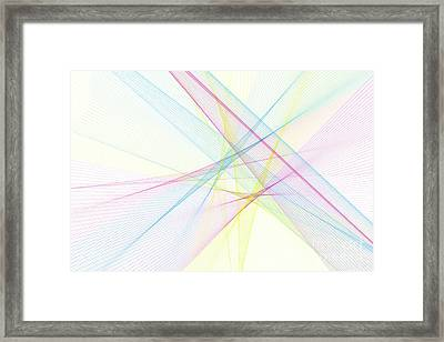Color Computer Graphic Line Pattern Framed Print by Frank Ramspott