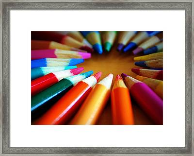 Color-ific Framed Print by Cricket Hackmann