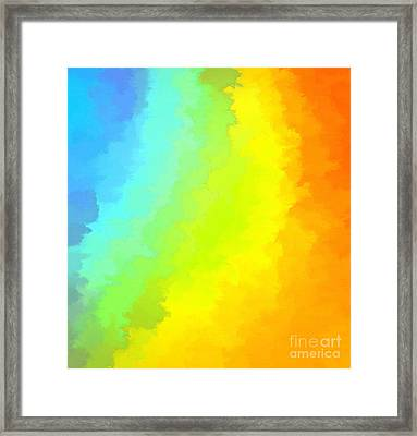 Color Me Happy Framed Print by Krissy Katsimbras