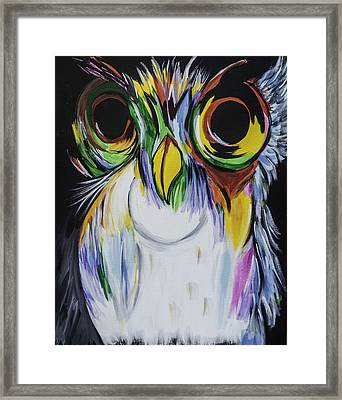 Color Owl Framed Print by Donna Marshall