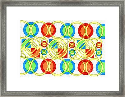 Color Space Framed Print by Norma Appleton