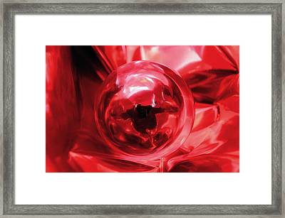 Color Sphere With Texture Framed Print by Laura Mountainspring