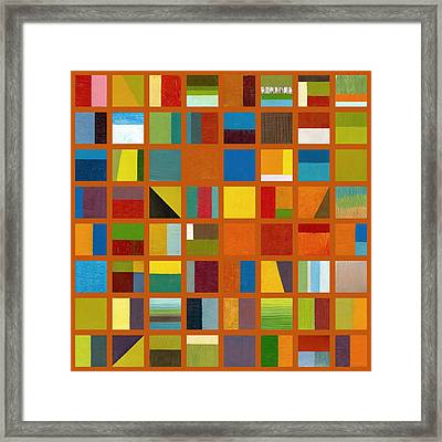 Color Study Collage 66 Framed Print by Michelle Calkins