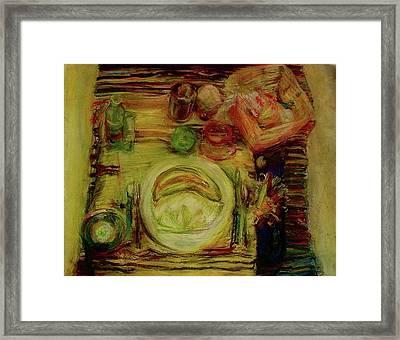 Color Study February Framed Print by Jana Barros