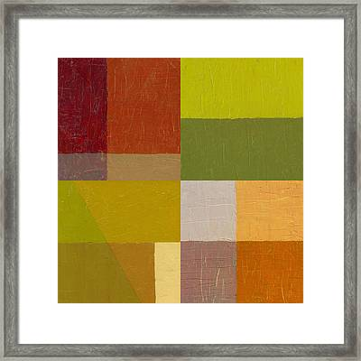 Color Study With Orange And Green Framed Print by Michelle Calkins
