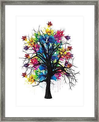 Color Tree Collection Framed Print by Marvin Blaine