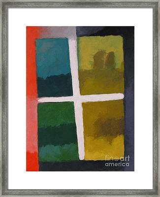 Color Window Framed Print by Lutz Baar