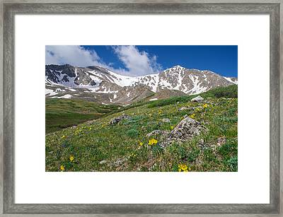 Colorado 14ers Grays Peak And Torreys Peak Framed Print by Aaron Spong