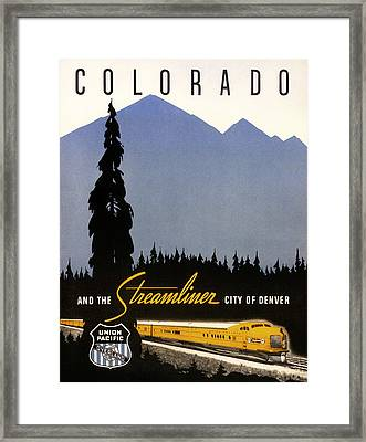 Colorado And The Streamliner City Of Denver - 1936 Framed Print by Mountain Dreams