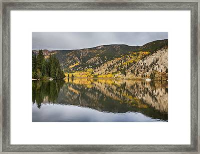 Colorado Autumn Fishing Lake Reflections Framed Print by James BO  Insogna