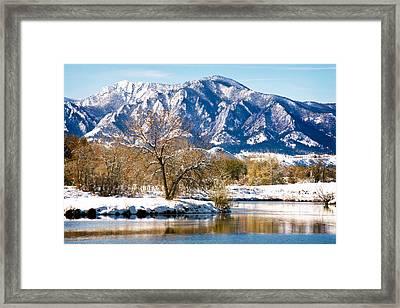 Colorado Flatirons 2 Framed Print by Marilyn Hunt