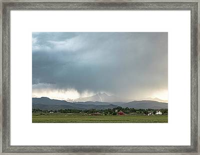 Colorado Front Range Lightning And Rain Framed Print by James BO Insogna