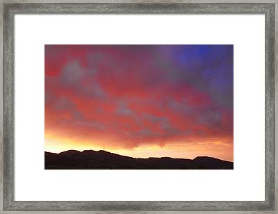 Colorado Front Range Rocky Mountains Foothills Sunset Framed Print by James BO  Insogna