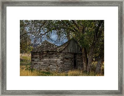 Colorado Log Cabin Framed Print by Paul Freidlund