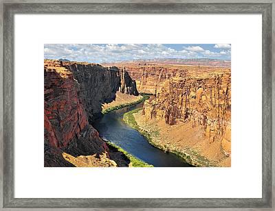 Colorado River At Marble Canyon Az Framed Print by Christine Till