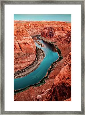 Colorado River Bend Framed Print by Az Jackson
