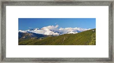 Colorado Rocky Mountains National Park Panorama Framed Print by James BO Insogna