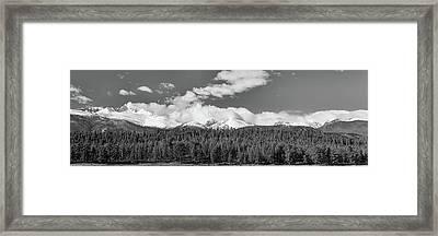 Colorado, Rocky Mountains Panorama Views Bw Framed Print by James BO Insogna