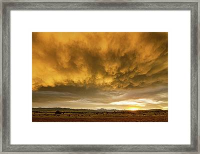 Colorado Severe Thunderstorm Fury Sunset Framed Print by James BO Insogna