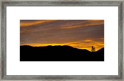 Colorado Sunrise Framed Print by Brendan Reals