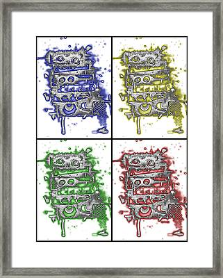 Colorblind Revisited Framed Print by Teddy Campagna
