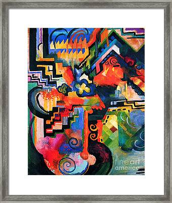 Colored Composition Framed Print by Pg Reproductions