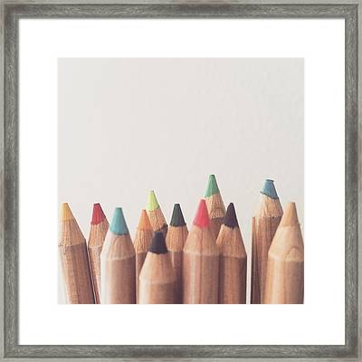 Colored Pencils Framed Print by Cortney Herron