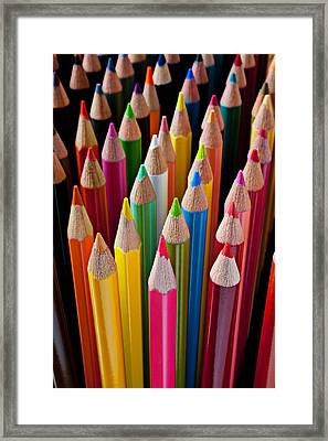 Colored Pencils Framed Print by Garry Gay