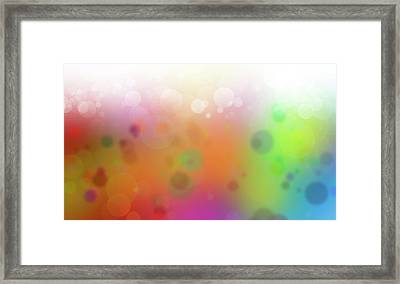 Colorful Abstract 2 Framed Print by Les Cunliffe